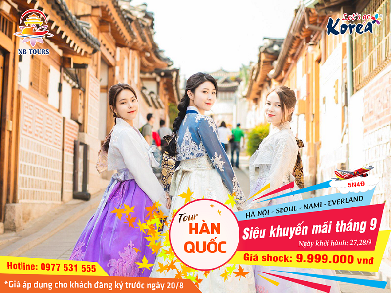 Tour Hàn Quốc giá sốc