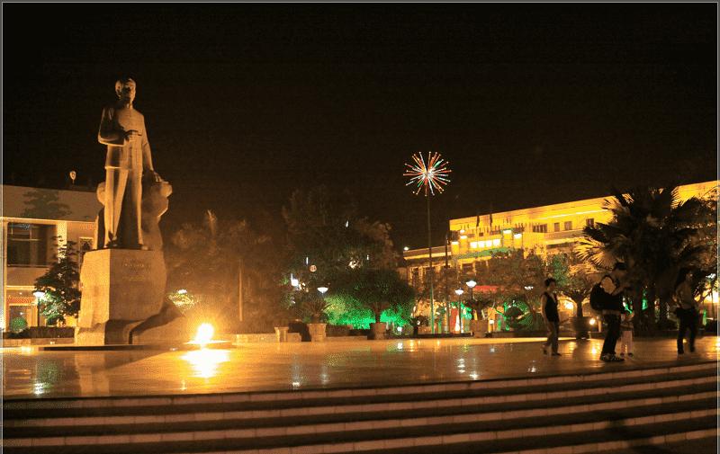 Thành phố Cao Bằng về đêm