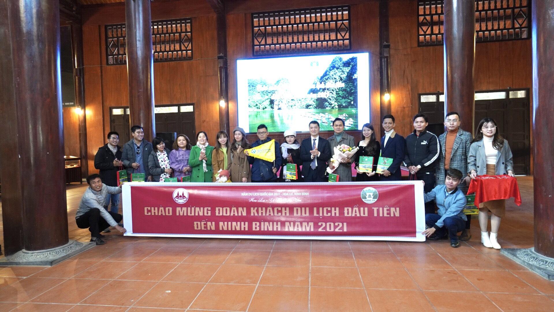 Ninh Bình đón đoàn khách du lịch đầu tiên năm 2021